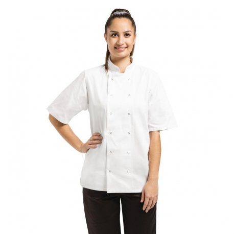 Whites Vegas Unisex Chef Jacket Short Sleeve White - XXL