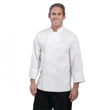 Chef Works Unisex Le Mans Chefs Jacket White S
