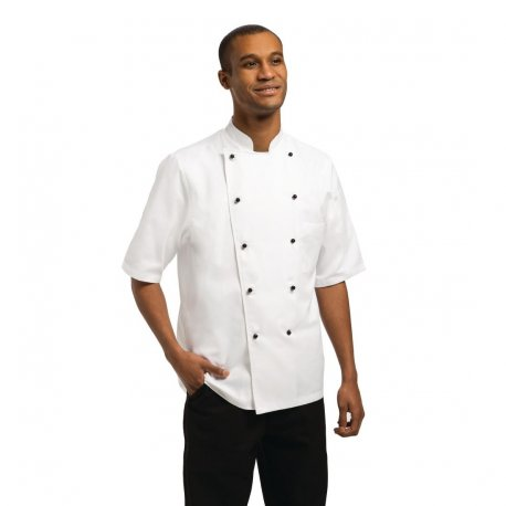 Chef Works Unisex Marche Chefs Jacket Short Sleeve XL