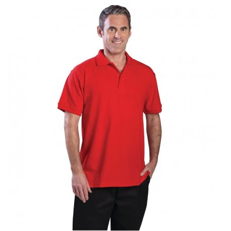 Unisex Polo Shirt Red L