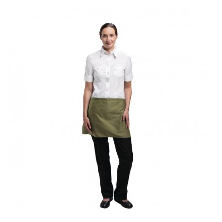Chef Works Short Bistro Apron Olive