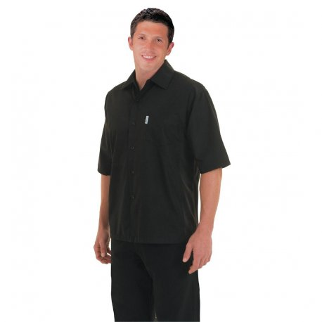 Chef Works Unisex Cool Vent Chefs Shirt Black S
