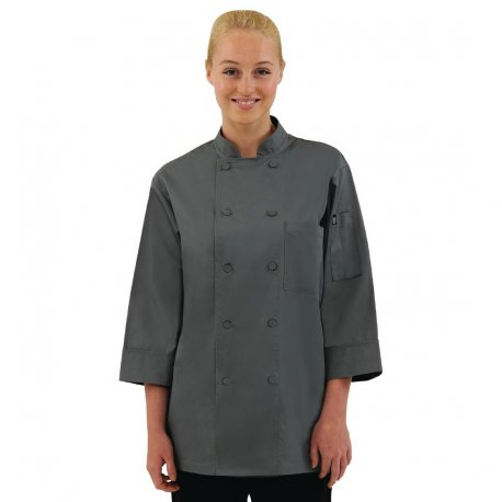 Chef Works Unisex Chefs Jacket Grey XL