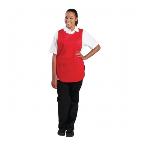 Tabard With Pocket Red Large