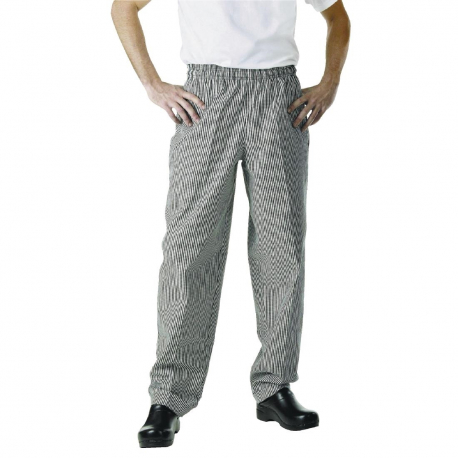 Chef Works Essential Baggy Pants Small Black Check S