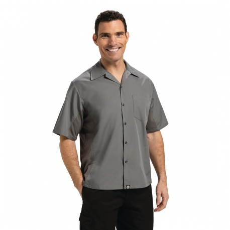 Chef Works Unisex Cool Vent Chefs Shirt Grey S