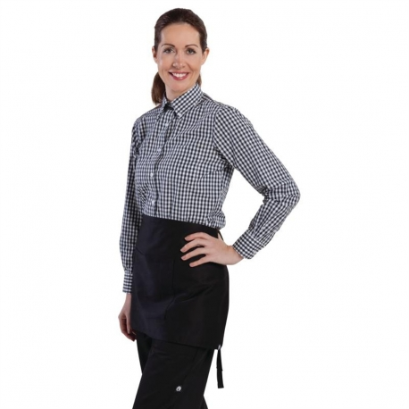 Chef Works Womens Gingham Shirt Black L