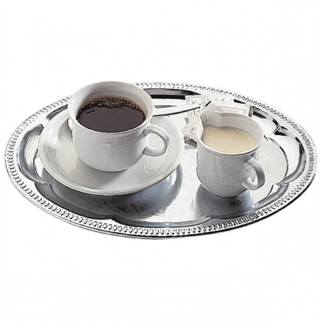 APS Chrome-Plated Stainless Steel Oval Tea Tray 300mm