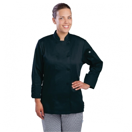 Chef Works Marbella Womens Executive Chefs Jacket Black S
