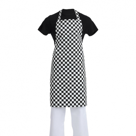 Whites Bib Apron Black and White Check