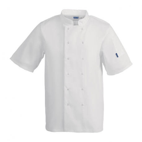 Whites Vegas Unisex Chef Jacket Short Sleeve White - S