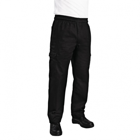 Chef Works Unisex Slim Fit Cargo Chefs Trousers Black L