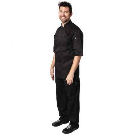 Chef Works Montreal Cool Vent Unisex Chefs Jacket Black S