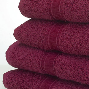 Image of a Hand Towel in Burgundy