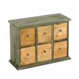Six Drawer Storage Cabinet 32 x 13 x 24cm
