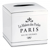 Salle de Bain Style White Ceramic 'Paris' Tissue Box