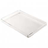 Clear Rectangular Tray - 148 x 220mm