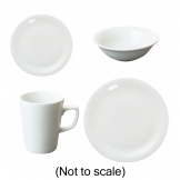 48 Piece Great White Crockery Pack (Coffee Version)