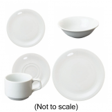 60 Piece Great White Crockery Pack (Tea Version)