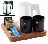 Bamboo Welcome Tray with Corsham Kettle 1Ltr