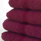 Bath Sheet - Burgundy x 2