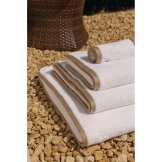 Heritage Ambassador Bath Towel White with Taupe Border (650g)