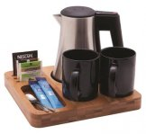Bamboo Welcome Tray with Malvern 0.5Ltr Kettle