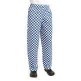 Chef Works Unisex Easyfit Chefs Trousers Big Blue Check M