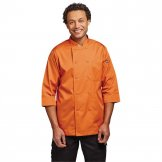 Chef Works Unisex Chefs Jacket Orange L