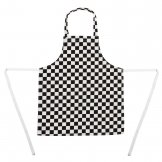 Whites Childrens Unisex Bib Apron Big Black and White Check