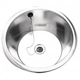 Franke Sissons Stainless Steel Rimmed Edge Round Inset Sink Bowl 380mm
