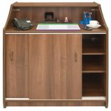 Deluxe Reception Counter 1000mm Walnut