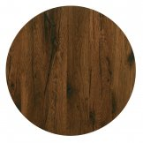 Werzalit Pre-drilled Round Table Top  Antique Oak 800mm