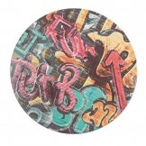 Werzalit Pre-drilled Round Table Top  Graffiti 800mm