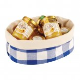 APS Bread Basket Oval Large Blue