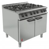 Falcon 6 Burner Dominator Plus Oven Range G3101 Propane Gas with Feet