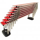 Gopak Contour Stacking Bench Red  6ft