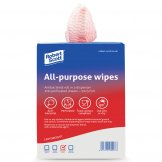 Jantex All-Purpose Antibacterial Cleaning Cloths Red (Pack of 200)