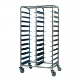 EAIS Stainless Steel Clearing Trolley 24 Shelves