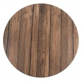 Werzalit Pre-drilled Round Table Top  Antique Brown 600mm