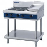 Blue Seal Evolution Cooktop 4 Element/ Griddle Electric on Stand 900mm E516C-LS