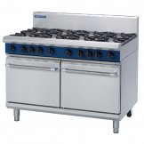 Blue Seal Evolution 8 Burner Double Static Oven Nat Gas 1200mm G528D/N