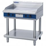 Blue Seal Evolution Chrome 1/3 Ribbed Griddle with Leg Stand Nat Gas 900mm GP516-LS/N