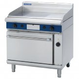 Blue Seal Evolution Nat Gas 1/3 Ribbed Griddle Electric Convection Oven 900mm GPE56/N
