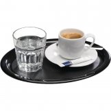 APS Melamine Service Tray Black 285mm