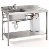Parry Stainless Steel Fully Assembled Sink Right Hand Drainer 1400mm
