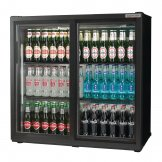 Autonumis Popular Double Sliding Door Maxi Back Bar Cooler Black A21094