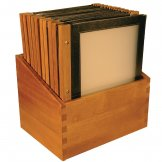 Securit Wood Spine American Style Menu Covers and Storage Box A4 Black