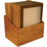 Securit Wood Spine American Style Menu Covers and Storage Box A4 Brown