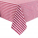 Mitre Comfort Gingham Tablecloth Red 1320 x 1320mm